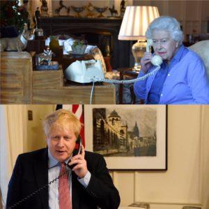 HM Queen Elizabeth II and Prime Minister Boris Johnson