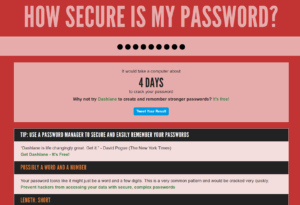 How secure is my password?